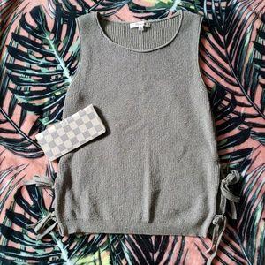 MADEWELL Side Tie Sweater Tank Top Sz XS